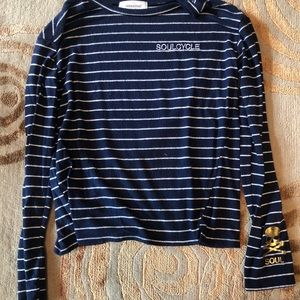 Soulcycle striped hacci pullover